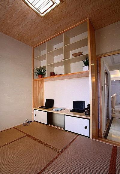 现代家庭榻榻米书房设计