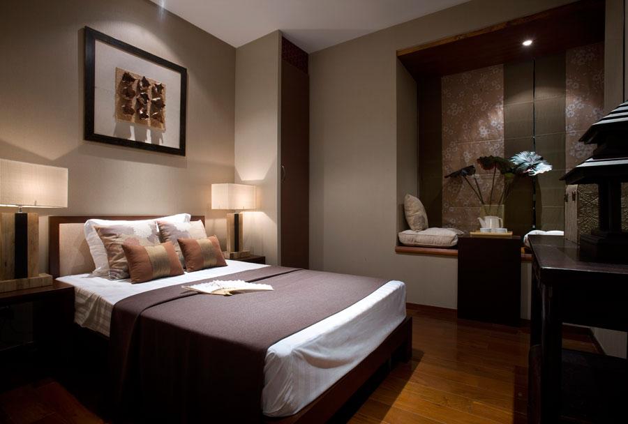 时尚现代设计中式风格卧室装修图