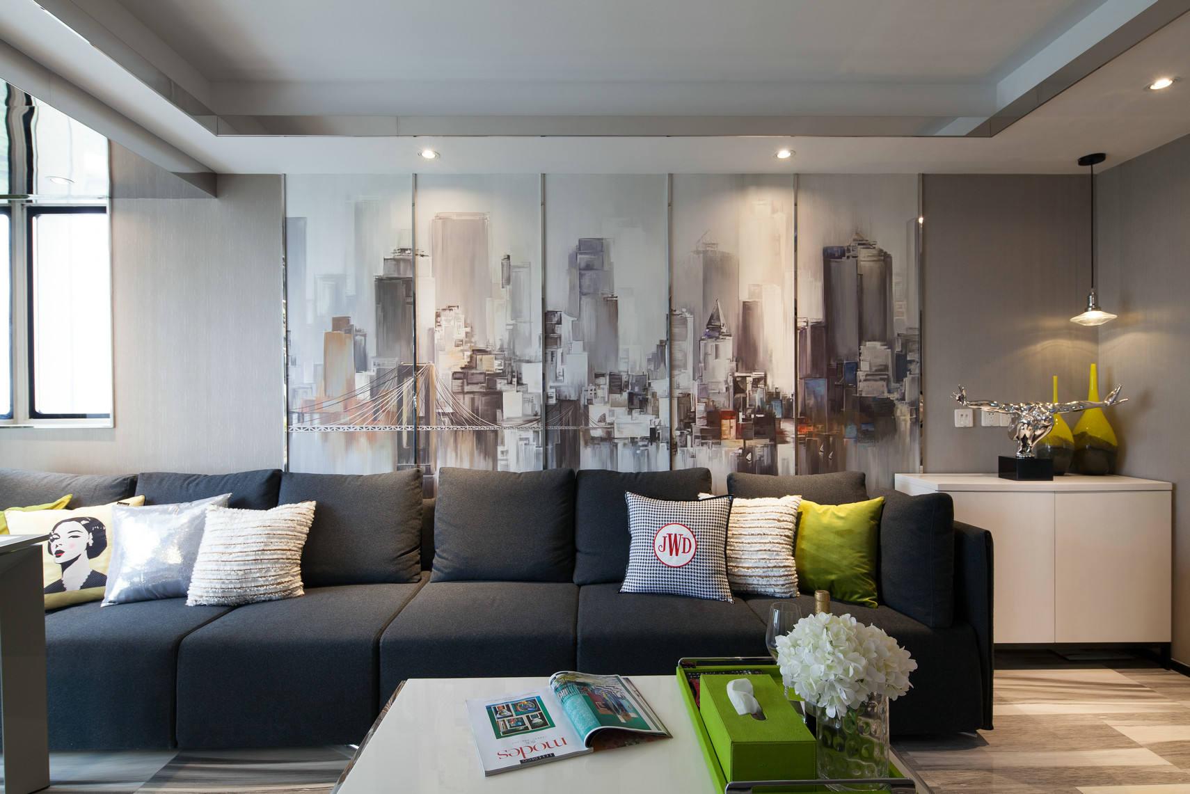 小户型室内现代设计个性装饰效果图_装修百科