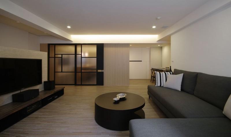 简约原木日式装修风格客厅图片