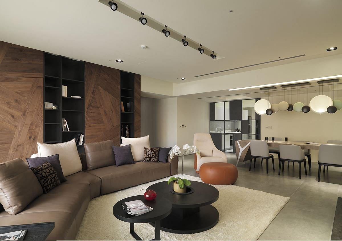 沉穩素雅現代設計風格二居室內裝修圖