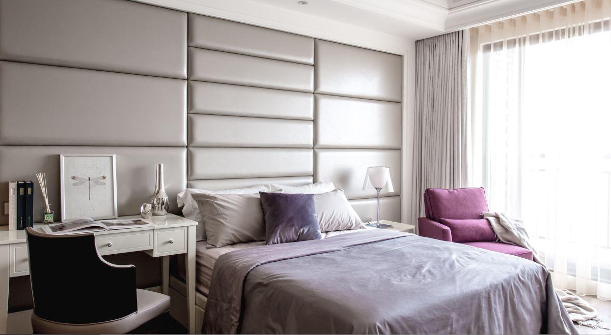 中式现代设计装修风格卧室书桌放置图