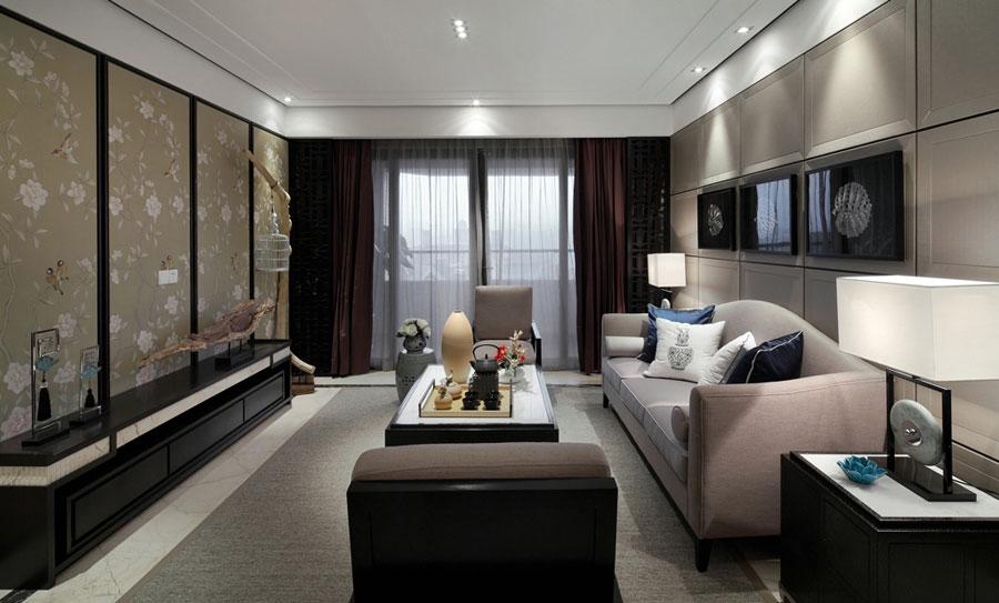 清雅含蓄新中式客厅设计装修图