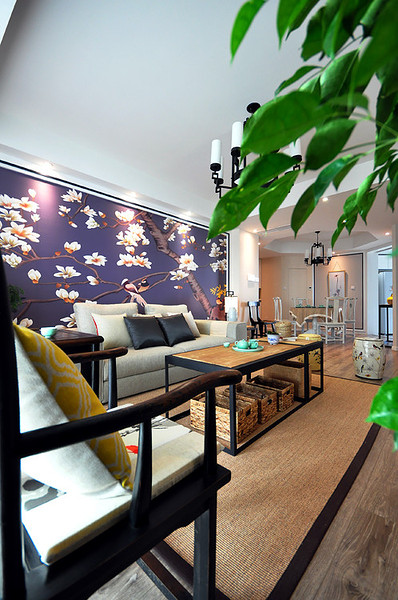 儒雅新中式风格二居装修效果图
