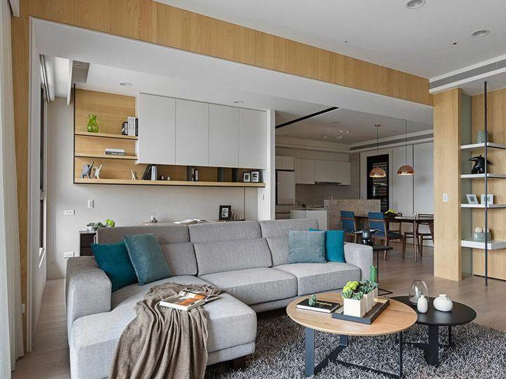 家居室內日式簡約原木裝修效果圖