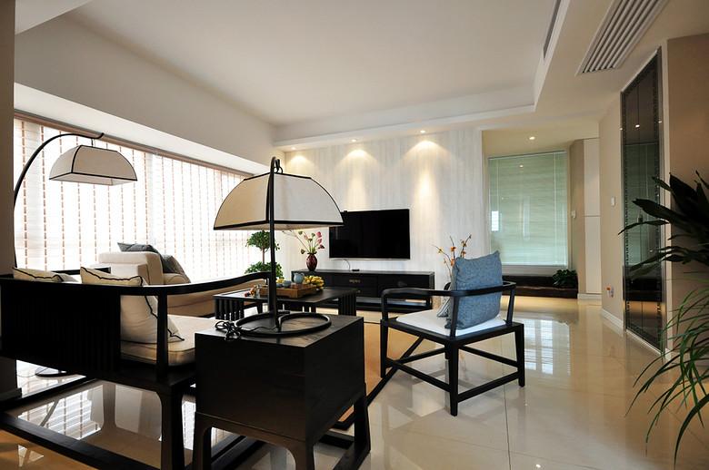 典雅大方新中式風格家居室內裝修設計圖片