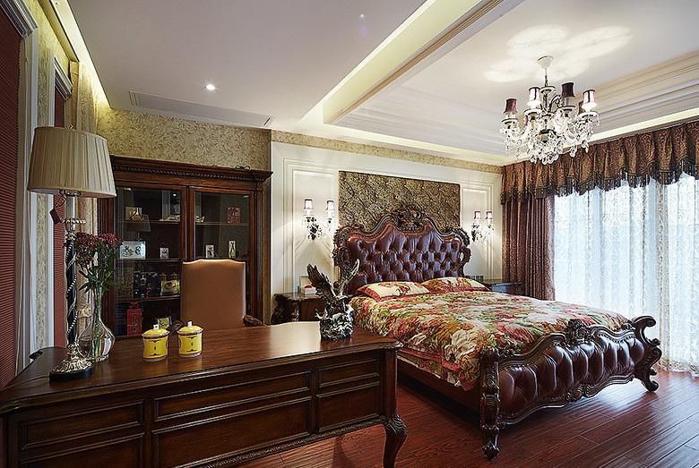古典欧式装修风格卧室办公区域设计装修图_装修百科