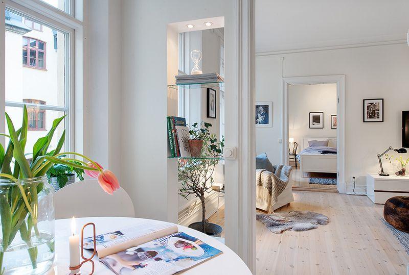 簡約設計小戶型一室兩廳室內裝修圖片