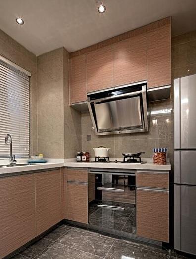 现代小户型厨房橱柜装饰效果图
