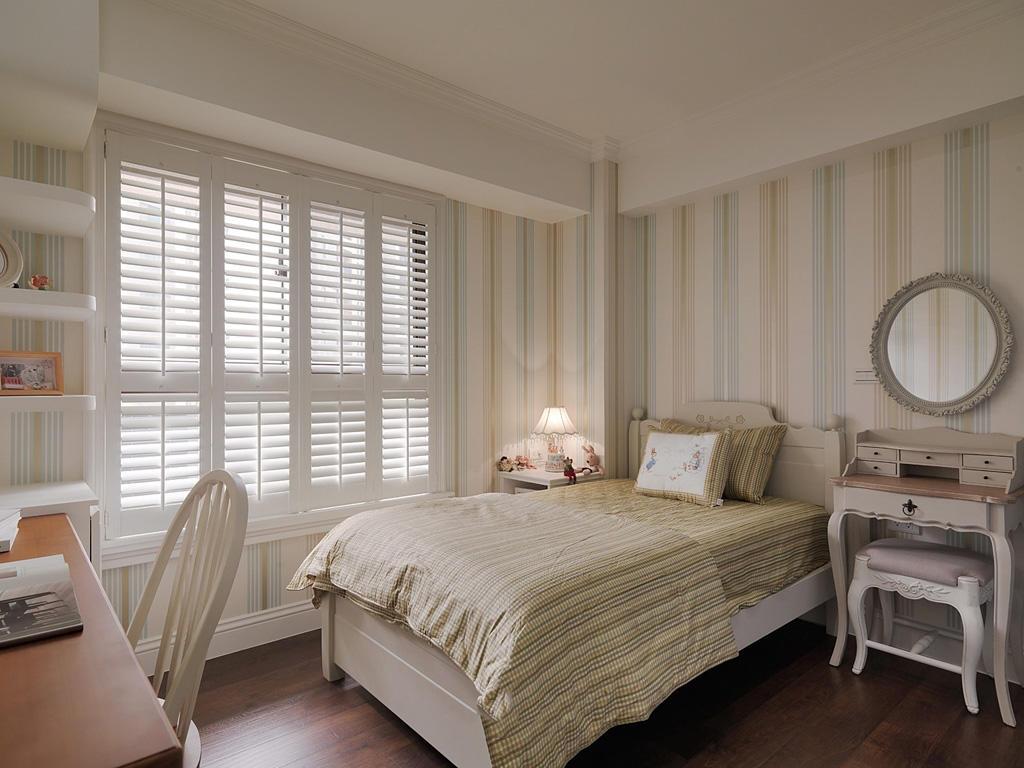 居家田园装饰风格卧室窗户设计装修图_装修百科