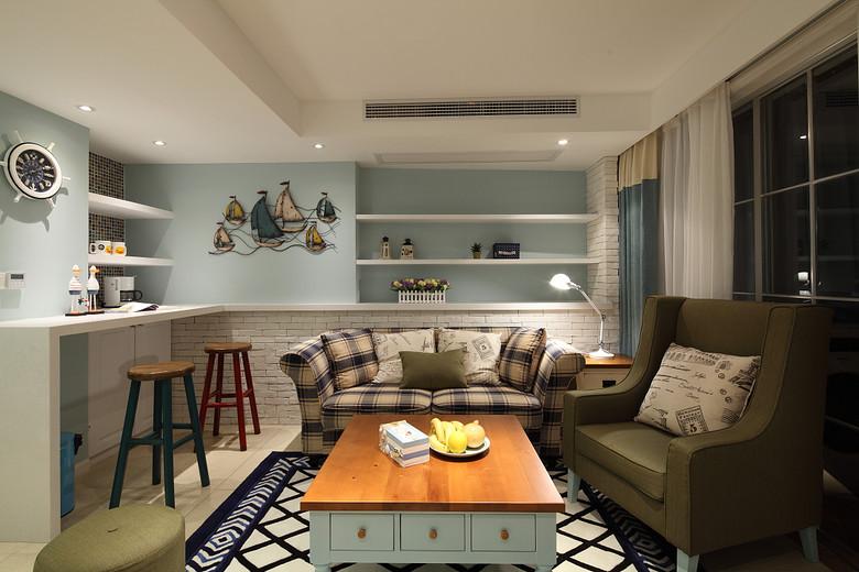 美式現代休閑客廳設計裝潢欣賞圖