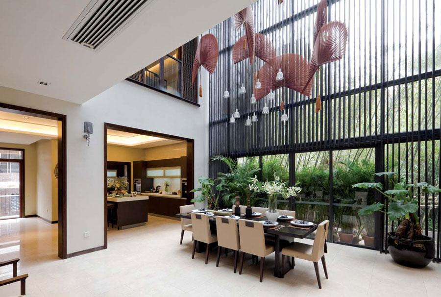 时尚大气新中式别墅家居装修效果图