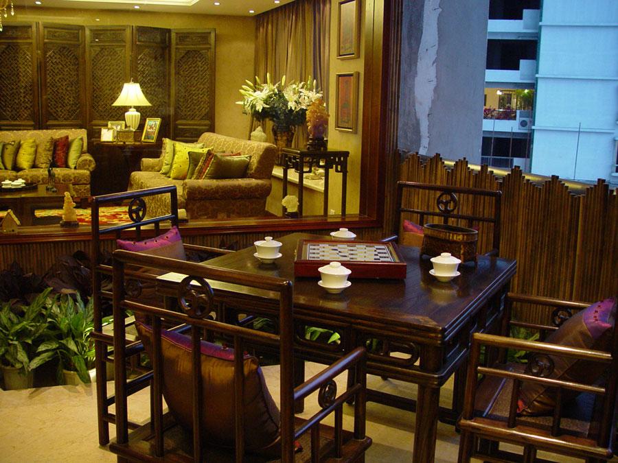 古典中式裝修風格家居茶室設計圖