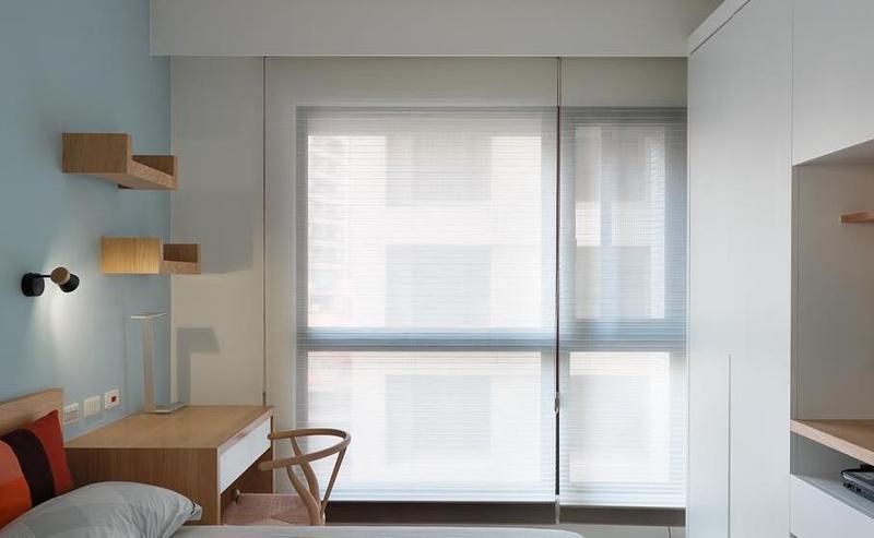 清新原木北欧卧室窗户设计图_装修百科