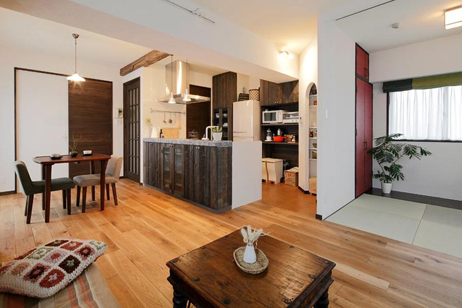 古樸日式裝修風格二居室內設計裝修效果圖