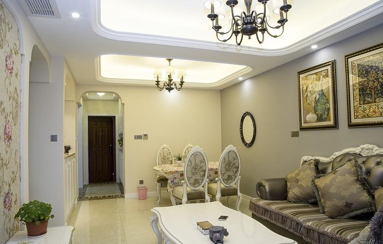 清新唯美简欧风格二居室内家装设计装修图_装修百科图片