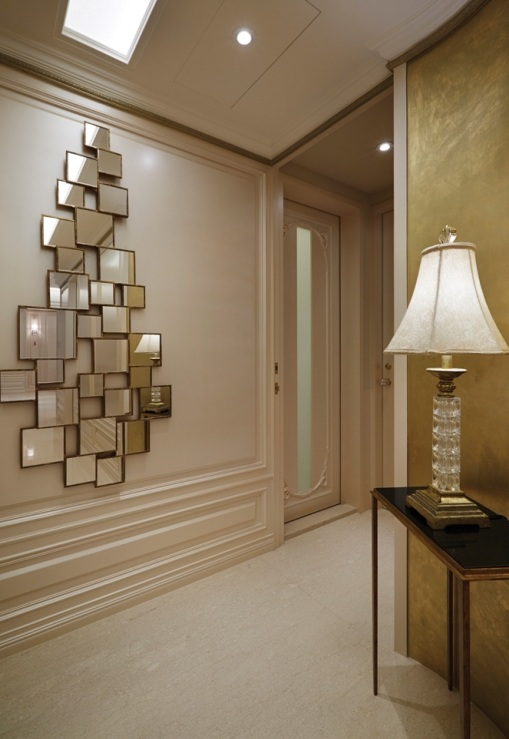 新古典主義設計風格家居玄關背景墻裝飾效果圖