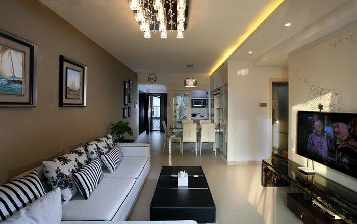 78平现代设计简朴装修二居家装效果图