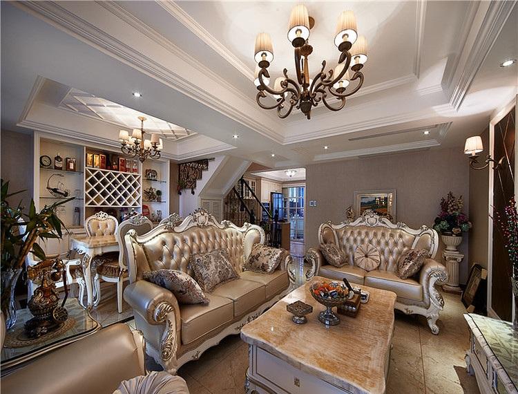 60万打造低奢精美欧式风格复式室内装修设计图_装修百科