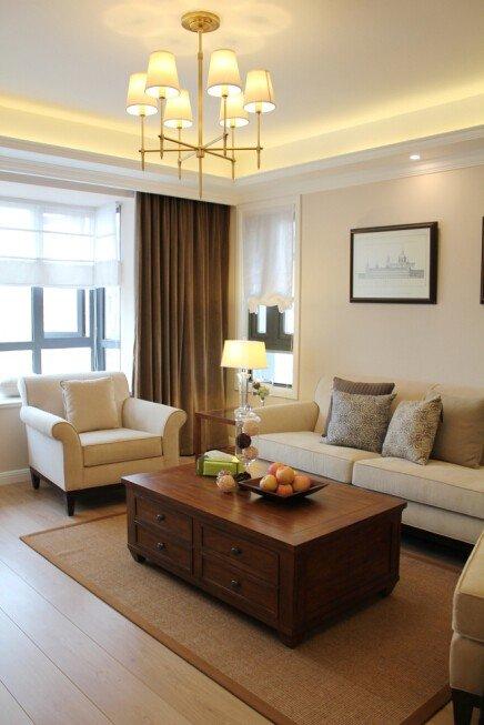 现代复古风家居客厅水果桌装饰图_装修百科