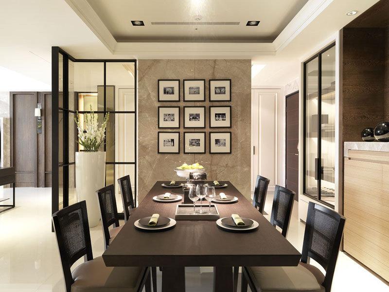 现代装修设计风格三室两厅家装效果图