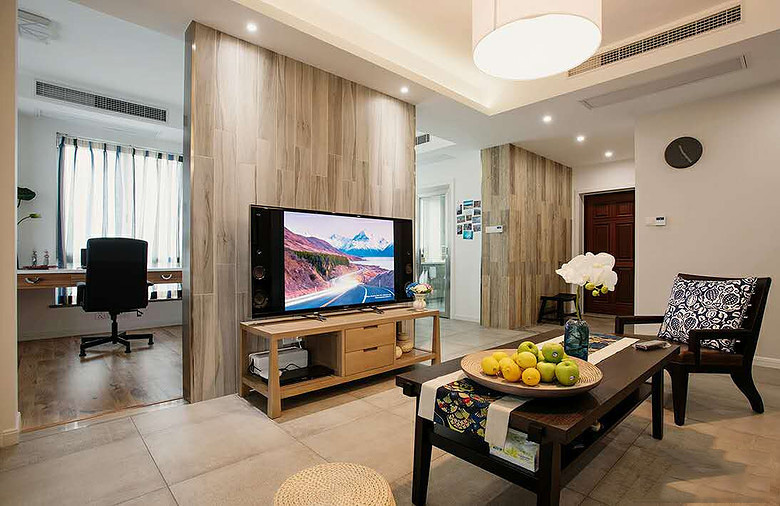 簡約現代家裝風格兩室兩廳設計圖
