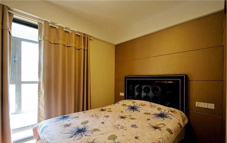 时尚现代设计卧室床头背景墙装饰图
