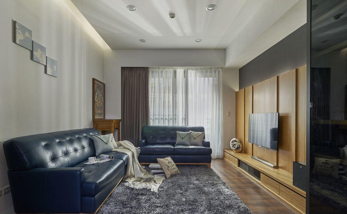 休闲简约美式田园风装修设计三居装饰案例