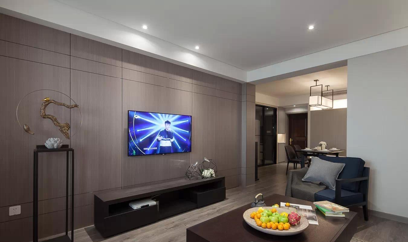装修百科 装修效果图 装修美图 素雅现代设计风格三居客厅电视背景墙