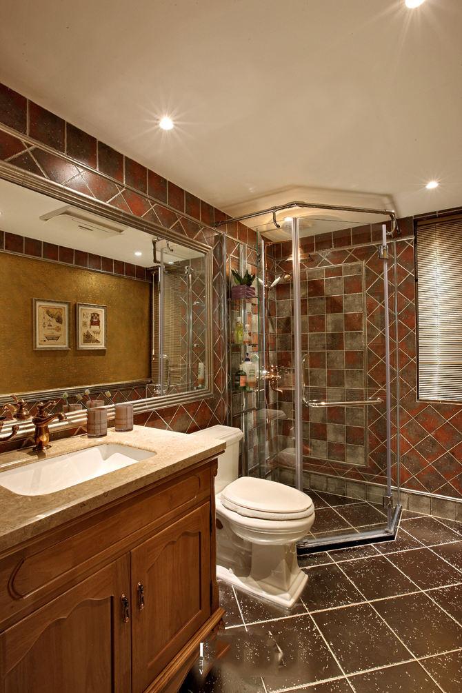 装修效果图 装修美图 怀旧美式卫生间设计装修图
