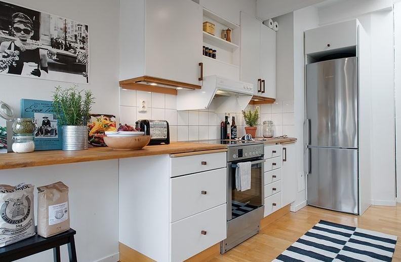 清新北歐公寓廚房設計裝潢效果圖_裝修百科