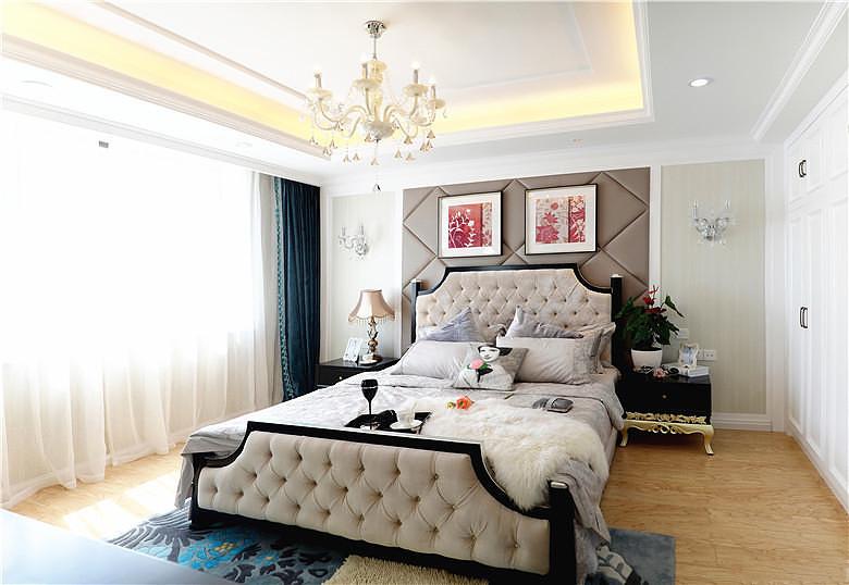 低奢现代欧式风格卧室软装装饰效果图_装修百科