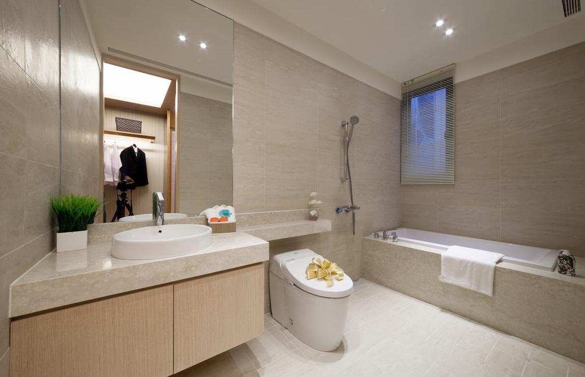 現代日式風格衛生間設計裝修圖