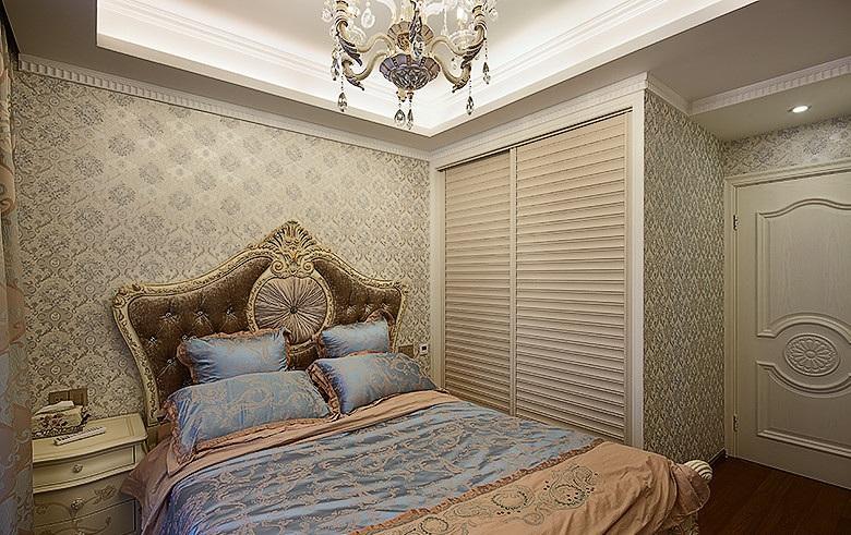 精致唯美欧式卧室壁纸装饰效果图_装修百科