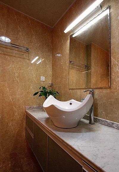現代時尚風格衛生間洗手盆裝飾效果圖