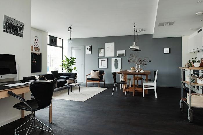 摩登現代北歐風格單身公寓室內設計裝修效果圖
