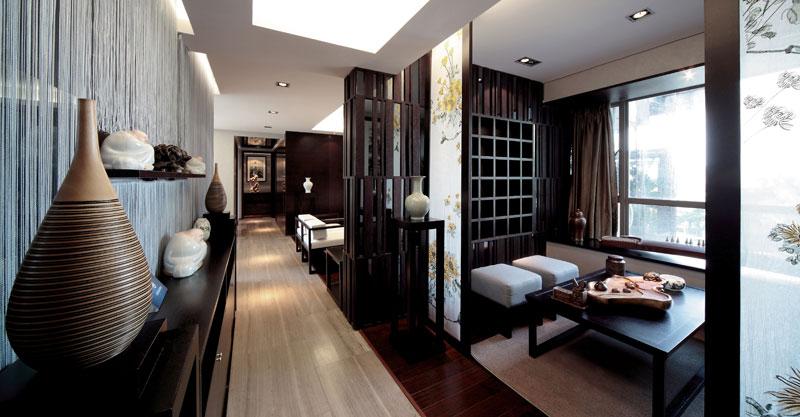摩登高端新中式家居过道设计装修图_装修百科
