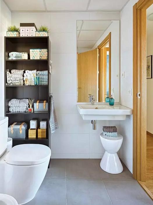 簡約宜家混搭風格衛生間浴室柜設計效果圖_裝修百科