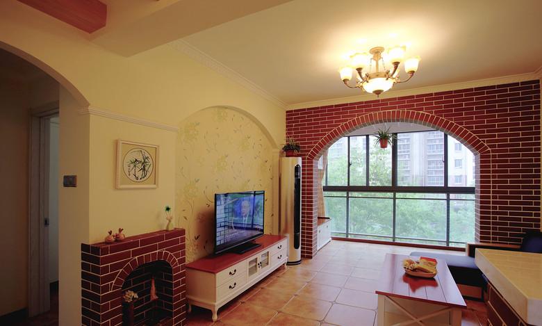 硅藻泥电视墙装修效果图 健康且文艺的电视背景墙图片