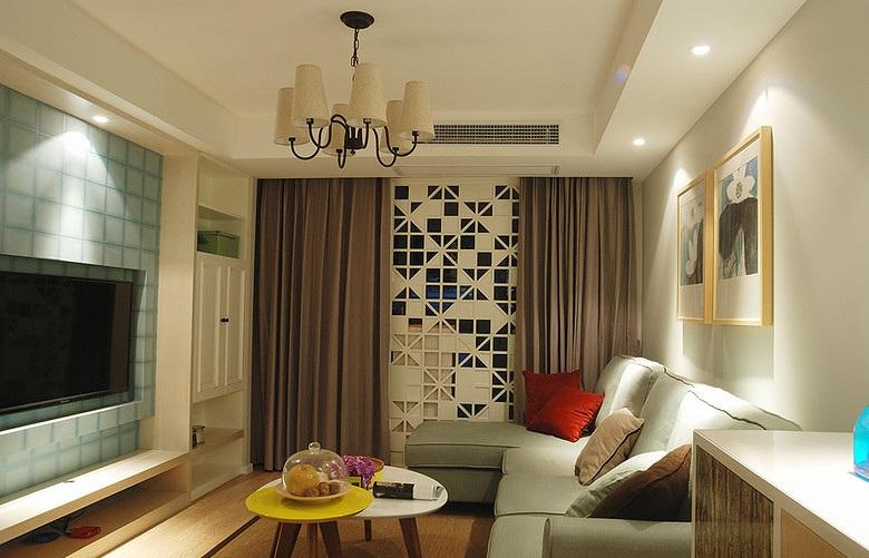 简约时尚宜家风格二居客厅装修效果图_装修百科