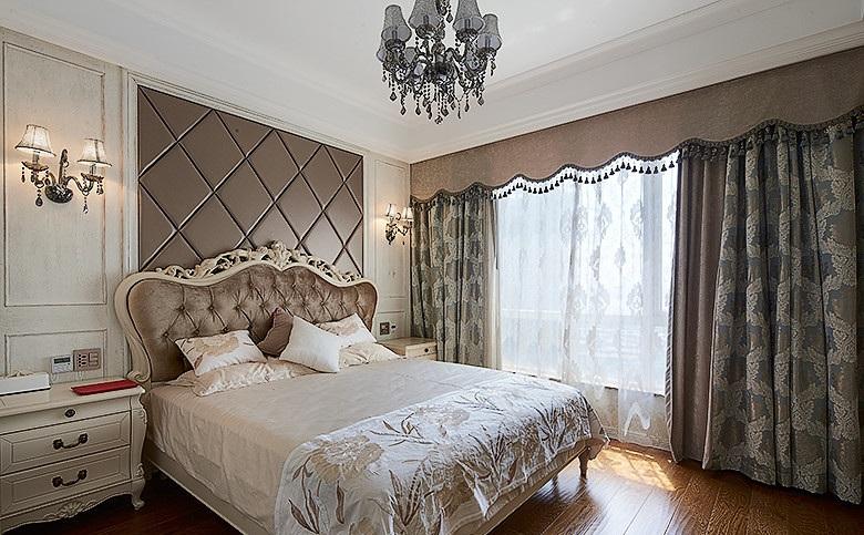 精美华丽欧式风格主卧室窗帘搭配图_装修百科
