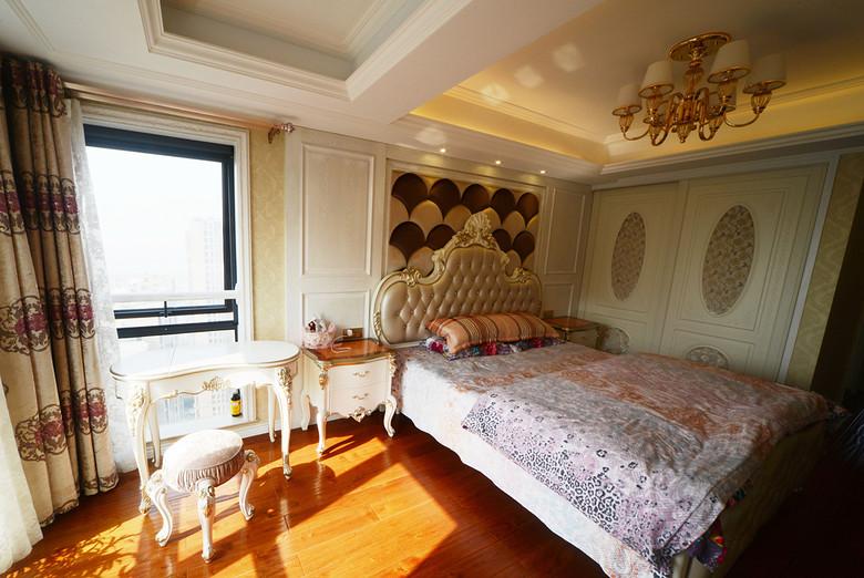 优雅欧式古典风格卧室吊顶设计图_装修百科