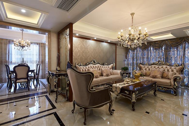 华贵典雅之古典欧式风格三室两厅装修美图