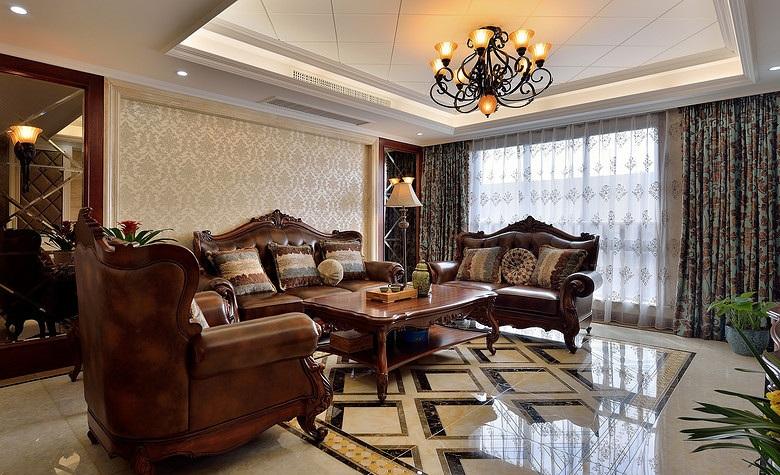 装修百科 装修效果图 装修美图 欧式古典奢华客厅红木家具装饰欣赏图
