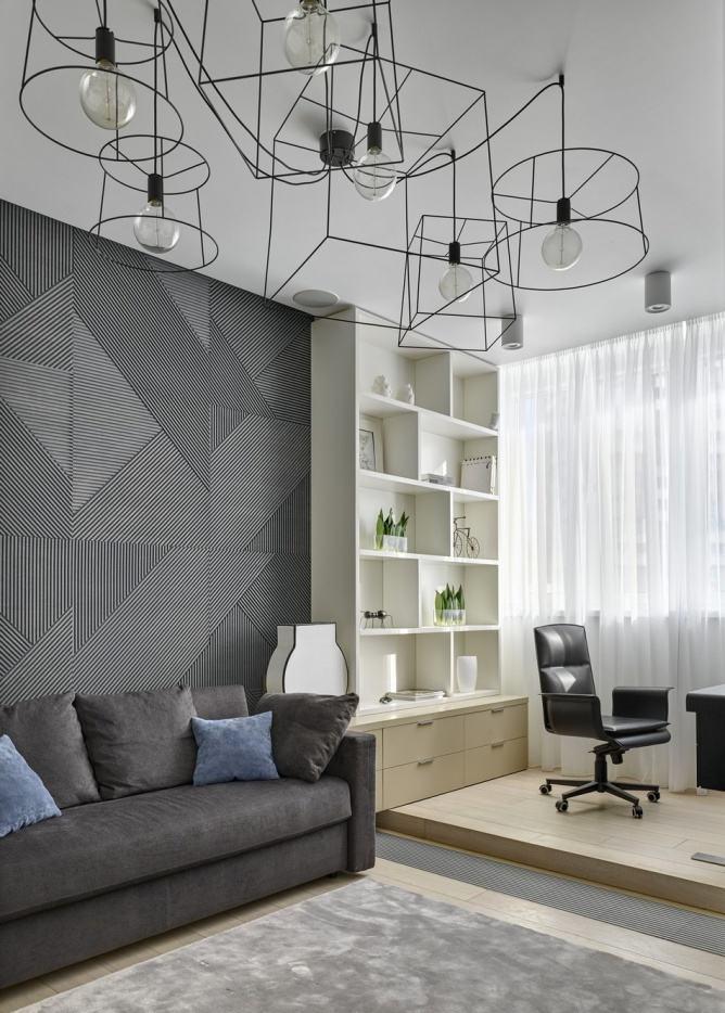 5万元简约装修现代两居室内效果图