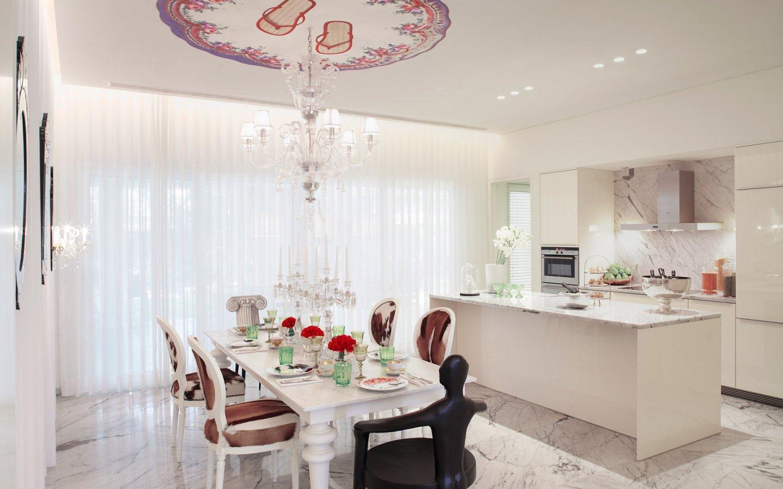簡約時尚歐式餐廚房一體設計裝潢圖