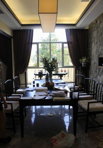 儒雅书香气息中式风格餐厅设计装修图_装修百科图片