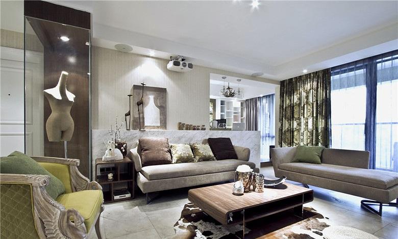 80平二居家裝客廳現代潮流風裝修設計圖