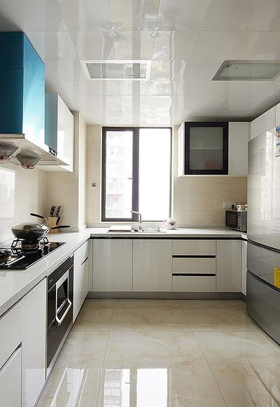 簡潔大方簡約風格廚房集成吊頂效果圖