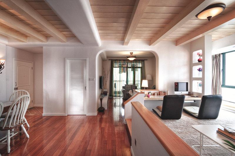 简欧复古风格室内木质吊顶设计图片_装修百科